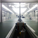 Apple Cleanrooms - twin product conveyor system
