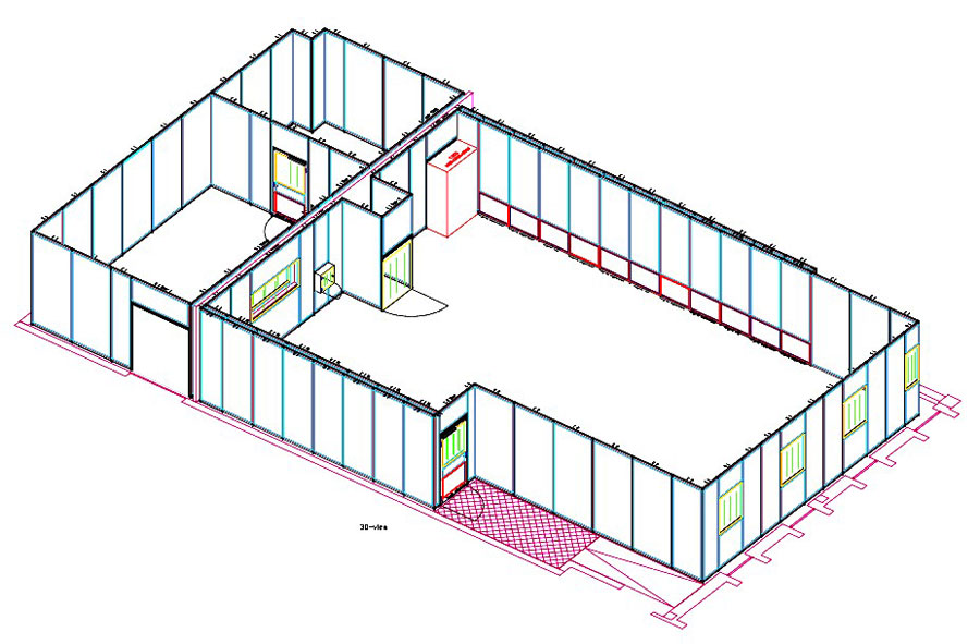 Modular Wall Cleanroom System design for E6