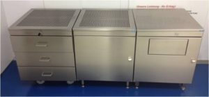 Stainless steel general workshop or cleanroom lockers