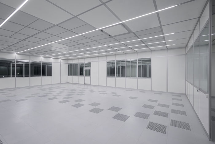 Construction Clean Room Floor : Fcm freiberger germany modular cleanroom construction by ngs