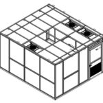 3D model system layout for the cleanroom construction