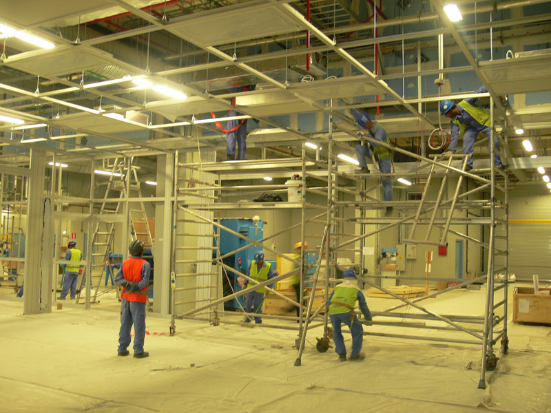 Construction of Cleanroom Ceiling