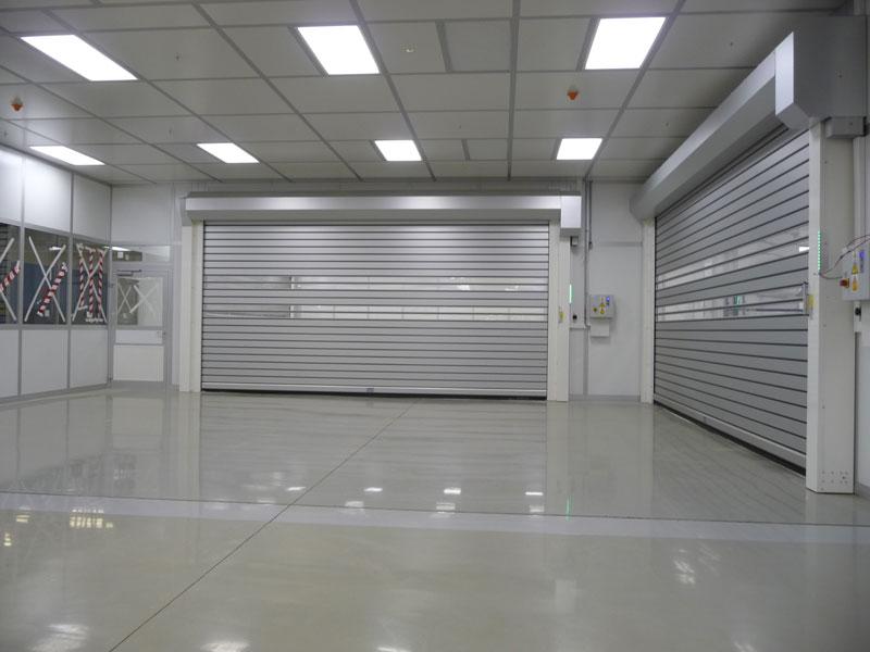 Large roller shutter door