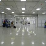 Large modular cleanroom at NDA