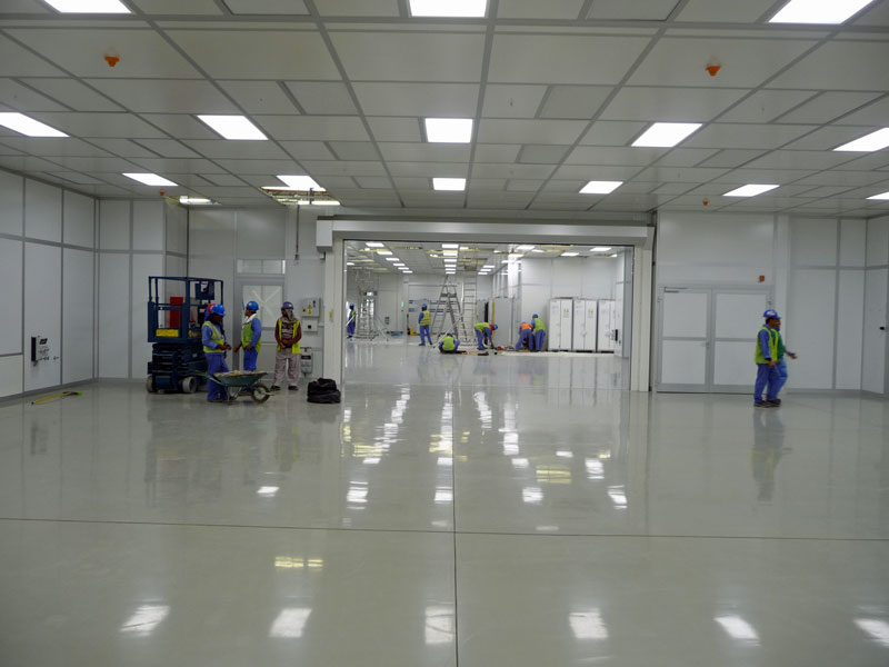 Large modular cleanroom at NDA