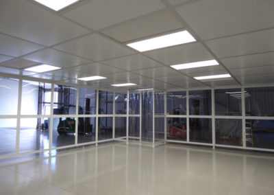 Interior of NGS Poly-wall Cleanroom