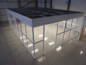 Top view of NGS Poly-wall System cleanroom