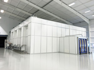 External view of the modular cleanroom