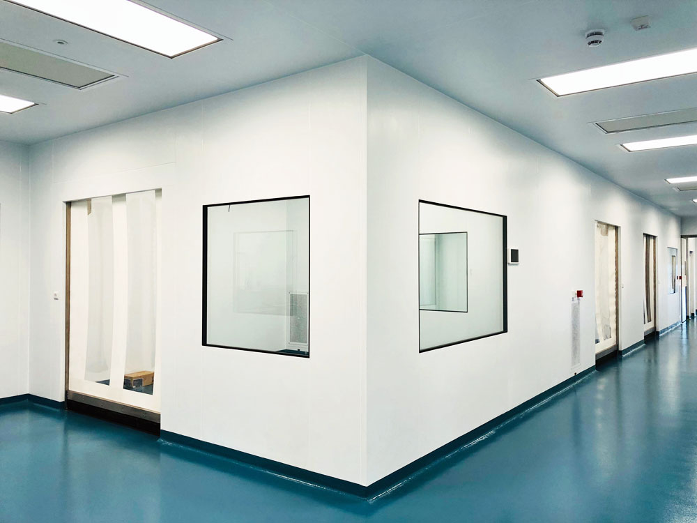 Cleanroom area within the cleanroom complex