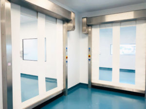 Speed Gates for isolating areas in the Cleanroom