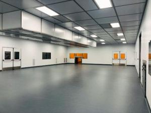 ESD welded vinyl flooring