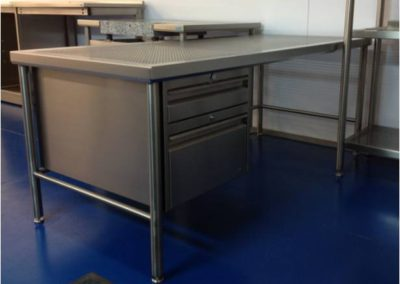 Stainless steel workstations and desks